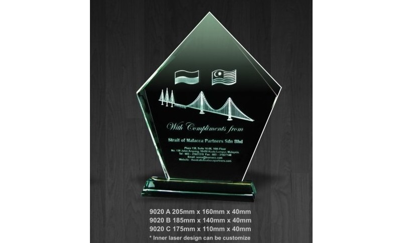 Crystal Awards Plaque