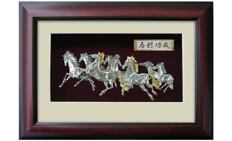 Pewter Eight Horse Frame