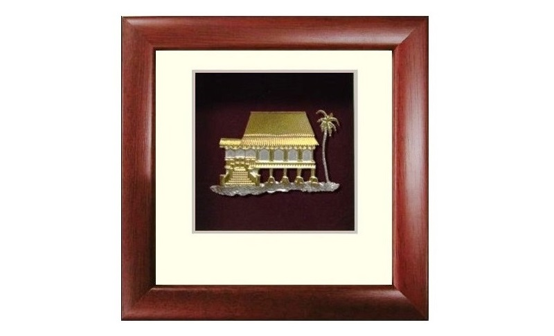 Pewter Malay House Frame