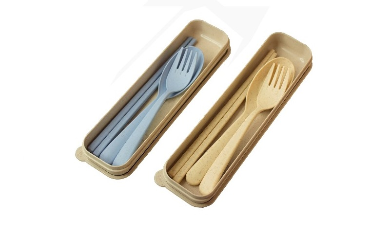 Wheat Chopstick Fork & Spoon